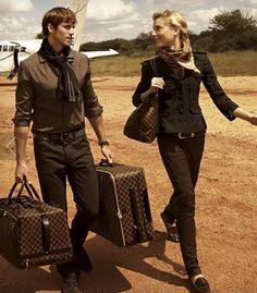 LV Damier Luggage