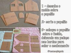 DIY: casas de tecido e papelão | Mamãe Plugada
