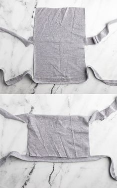 How to fold a t shirt to make a no-sew face mask.
