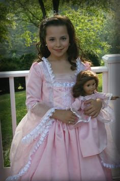 Princess Gown with Matching American Girl 18 por richelleleanne, $185.00