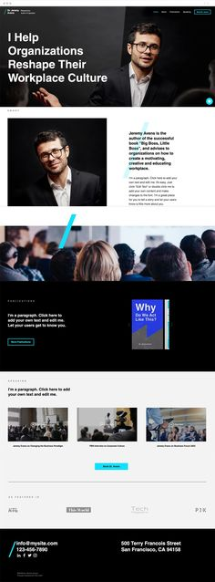 Get noticed with this sleek and professional template geared towards keynote speakers. Showcase your latest publications, upload videos from past speaking engagements, and use Wix Bookings to make sure your calendar is always full. Start editing now to create a site that will make you the star of the show.