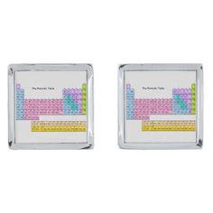 """Periodic Table"" Cufflinks"