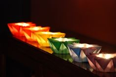 SIX Mini Waldorf Star Lanterns by greenbaboondesigns on Etsy, $20.00