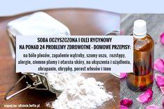 Soda oczyszczona i olej rycynowy na ponad 24 problemy zdrowotne. Proste przepisy domowe