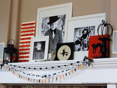 Fall Mantel Decorating Ideas - Halloween Mantel Decorations