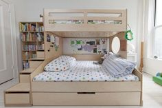 Bunk Beds With Stairs And Trundle Omar Casa Kids