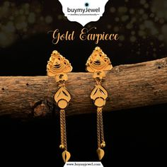 We are treasure chests with more jewels inside than we can imagine. Select from our beautiful collection of Gold Earring. Gold Jhumka Earrings, Indian Jewelry Earrings, Gold Drop Earrings, Pearl Necklace Designs, Gold Earrings Designs, Gold Ring Designs, Gold Jewellery Design, Gold Earrings For Women, Gold Jewelry Simple
