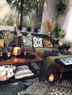 Boho Living Room, Living Room Decor, Bedroom Decor, Bohemian Interior, Bohemian Decor, Bohemian Design, Bohemian Gypsy, Style Deco, Dream Rooms