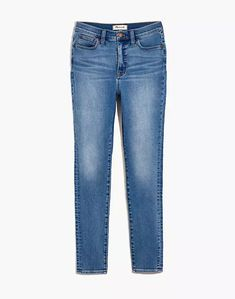 """10"""" High-Rise Roadtripper Authentic Jeans in Vinton Wash Mid Rise Skinny Jeans, Skinny Legs, Skinny Fit, Love Label, Denim Shoes, S Man, Madewell, Thighs, Dressing"""