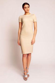 Beige Karen Style Dresses