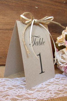 Rustic table number Table numbers wedding by DazzlingDaisiesCo
