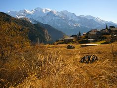 Mont Blanc, French Alps from Plaine Joux in Autumn