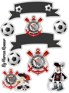 Topper de Bolo Corinthians Emoji, Toot, Print And Cut, Cake Toppers, Ale, Mickey Mouse, Scrapbook, Cards, Baby Shark