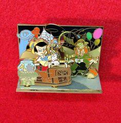 Disney RARE Pin PINOCCHIO & JIMINY CRICKET PINOCCHIO'S DARING JOURNEY DIORAMA