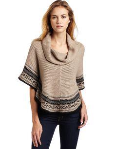 Ella moss Women's Stockholm Poncho Sweater
