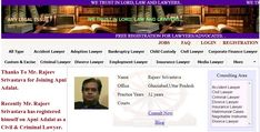"""Best Civil Lawyers in Ghaziabad & Delhi NCR....  Thanks To Mr. Rajeev Srivastava for Joining Apni Adalat. Recently Mr. Rajeev Srivastava has registered himself on Apni Adalat as Civil & Criminal Lawyer.  Free Registration is Open for Lawyers on Apni Adalat. Register yourself to get more cases and clients.  Visit for free registration to """"apniadalat.com"""". Good Lawyers, States Of India, Child Custody, Divorce Lawyers, Family Matters, Delhi Ncr, Civilization, Finance, Lord"""