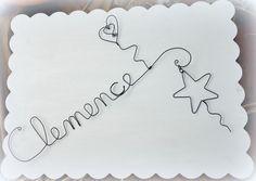 """Un prenom en fil de fer """" clemence"""" https://www.facebook.com/1422495381331286/photos/a.1527837290797094.1073741846.1422495381331286/1527837294130427/?type=1&theater"""