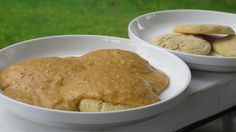 Gluten Free Biscuits with Garbanzo Bean Gravy using garbanzo bean (chickpea) flour from @Bob's Red Mill
