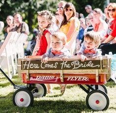 Here comes the bride wagon with family kiddos Wagon For Wedding, Fox Wedding, Dallas Wedding, Wedding With Kids, Wedding Tips, Wedding Ceremony, Dream Wedding, Wedding Day, Wedding Dreams