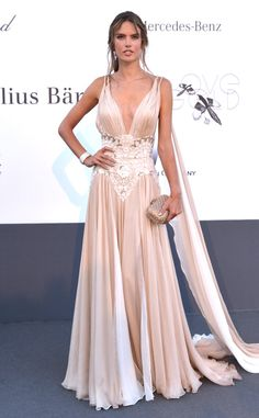 Alessandra Ambrosio from 2013 Cannes: amfAR Benefit Gala | E! Online