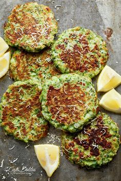 Broccoli Parmesan Fritters.