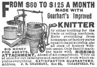 Gearhart Improved Knitter 1903 Ad Picture
