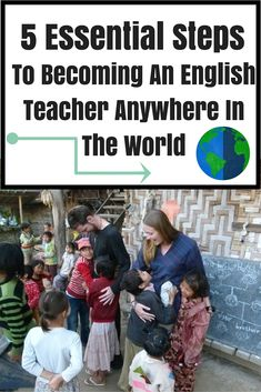5 Essential Steps To Becoming An English Teacher Anywhere In The World. Not so much a digital job but can still provide you with an income abroad. www. Teaching Overseas, Teaching Jobs, Moving Overseas, Au Pair, Work Abroad, Study Abroad, Work Travel, Travel Tips, Travel Tourism