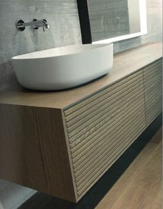 Bathroom Cabinets, Bathroom Furniture, Italian Bathroom, Interior Architecture, Interior Design, Eclectic Design, Stone Mosaic, Cabinet Design, Solid Oak