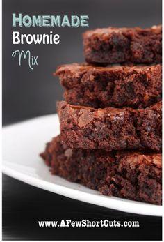 Homemade Brownie Mix, #Brownie, #Homemade, #Mix