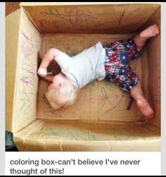Zo kind in de doos, paar stiften erbij en VEEL PLEZIER!