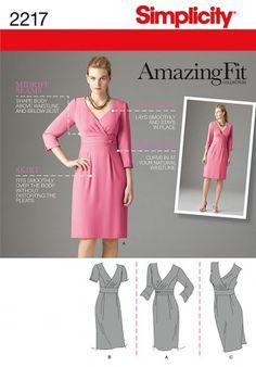 Simplicity - 2217 nauwsluitende jurk | Naaipatronen.nl | zelfmaakmode patroon online