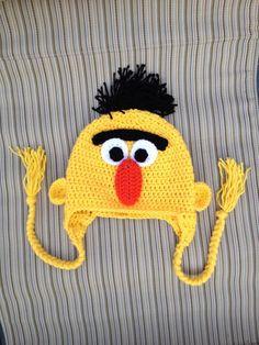 Sesame Street Bert INSTANT DOWNLOAD PDF Hat by KristinsArt4u