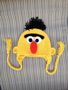 Sesame Street Bert INSTANT DOWNLOAD PDF Hat by KristinsArt4u