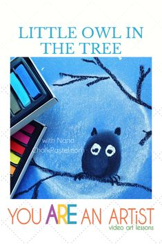 Hoo hooo hooo's ready to paint a cute little owl 🦉 in the tree with Nana? Find this sweet lesson in @thewaldockway 's Morning Basket Group on Facebook or on our You ARE an Artist YouTube channel. And be sure to share photos of your paintings with us! We can't wait to see 🎨 #YouAREanArtist #arttimewithnana #homeschoolart Share Photos, Art Curriculum, Little Owl, White Chalk, Autumn Art, Chalk Pastels, In The Tree, Your Paintings, Art Tutorials