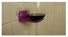 Wine Glass holder for shower