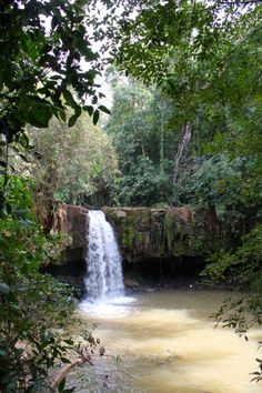 Monorom Falls in Mondulkiri I went here for a picnic with missionary