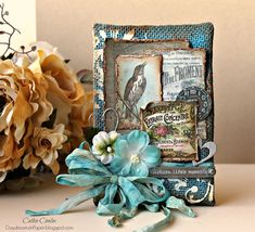 Daydreams In Paper: Simon Says Stamp Monday Challenge - Use Your Favorite Tool Altered Canvas, Altered Art, Burlap Canvas, Mixed Media Tutorials, Paper Cards, Atc Cards, Bird Cards, Fancy Fold Cards, Artist Trading Cards