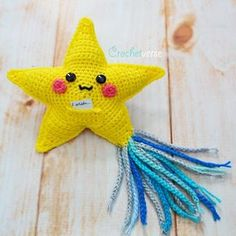 When You Wish Upon a Star – A WISHING Star! Free Crochet Pattern! What's that, you ask? Well, this cute little kawaii style amigurumi doll has a special pocket on it's tummy. Just write your wish and tuck it inside and then wait…. Maybe your wish will come TRUE! This little cutie is really quick …