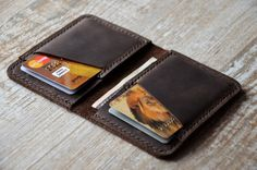 Wallet Front Pocket Design Minimalist Handmade Leather door Handor