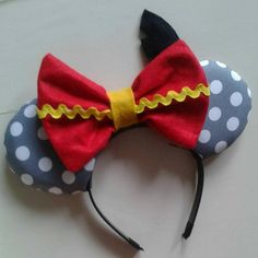 Dumbo-Inspired Mouse Ear Headband with Bow by ModernMouseBoutique