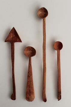 Hand Carved Maple, Oak & Sycamore Wood Spoons