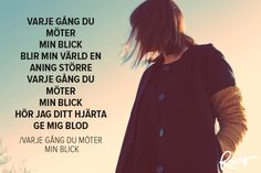 16+gånger+Kent+satte+ord+på+våra+känslor+(Tack+för+allt!) One Day Quotes, Quote Of The Day, Love Quotes, No One Loves Me, Qoutes, First Love, Poems, Lyrics, Mood