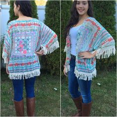 This Floral Memories Kimono Cardigan is the perfect all year long piece! - Spring Summer Fall Winter Fashion www.psiloveyoumoreboutique.com