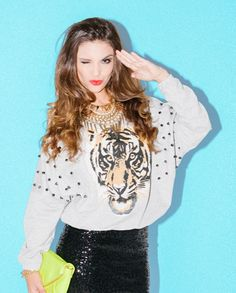 Eye of the tiger. #tiger #sequins #fashion
