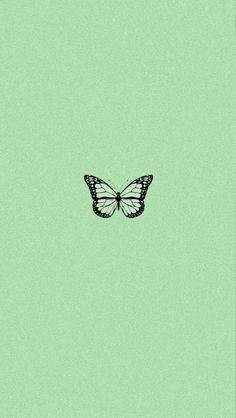 Pastell Wallpaper, Iphone Wallpaper Green, Butterfly Wallpaper Iphone, Iphone Wallpaper Tumblr Aesthetic, Homescreen Wallpaper, Emoji Wallpaper, Iphone Background Wallpaper, Retro Wallpaper, Aesthetic Pastel Wallpaper