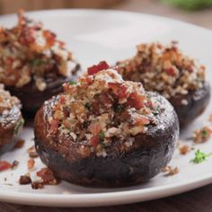 Need a quick & easy party appetizer? Try these gorgeous mushrooms stuffed with mouthwatering bacon, Parmesan, & herbs, then baked to crispy, caramelized perfection.