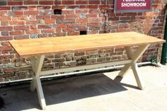 South Downs Green X Frame Dining Table | JUST JONES INTERIORS