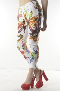 floral printed panst by Sexy Woman