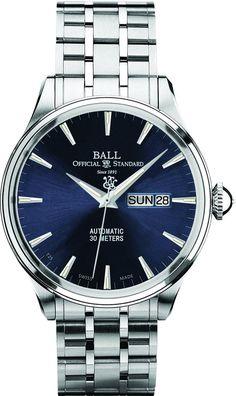 Ball Watch Company Trainmaster Eternity #bezel-fixed #bracelet-strap-steel…