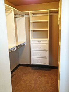 Master Closet with built-in shelves